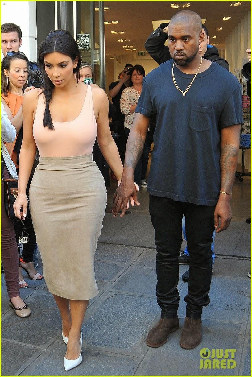 Kim Kardashian Latest Sexy Hot pictures dress paris 2014