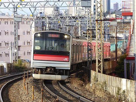 仙石線 普通 小鶴新田行き 205系3100番台(朝6本運行)