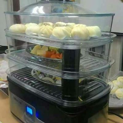 Noxxa Food Steamer, Pengukus Elektrik Automatik Paling Best!
