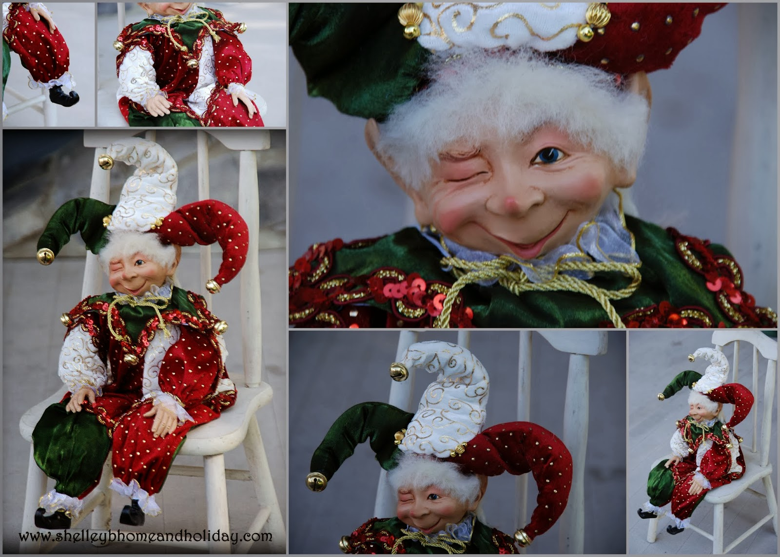 Shelley B Decor And More: Christmas Jester Elf Decoration