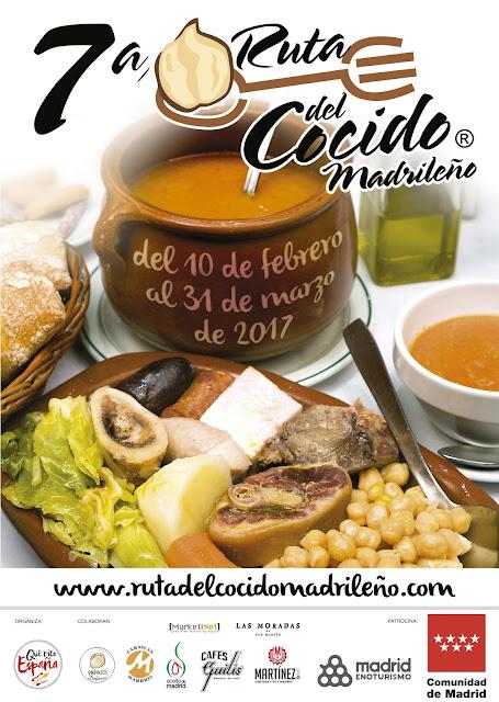 Ruta del Cocido Madrileño. Del 10 de febrero al 31 de marzo