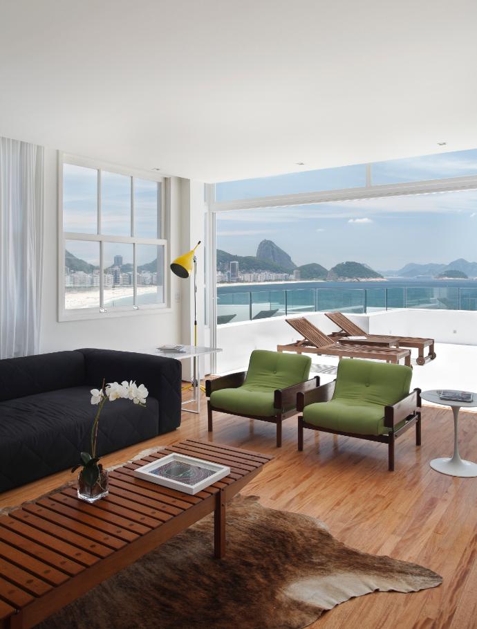 Casas minimalistas y modernas casa moderna en rio de janeiro for Salone casa moderna
