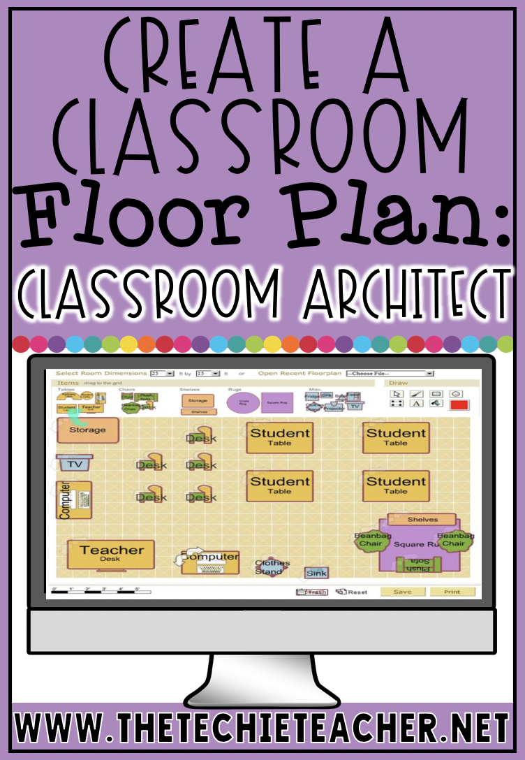 Students will have a blast creating their ideal classroom floor plan using this free website, Classroom Architect. This is also a great resource to use when teaching the math concepts of area and perimeter.
