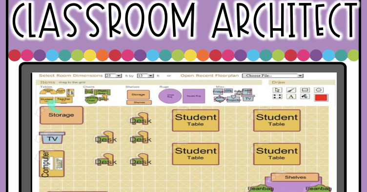 Create A Classroom Floor Plan With Classroom Architect The Techie