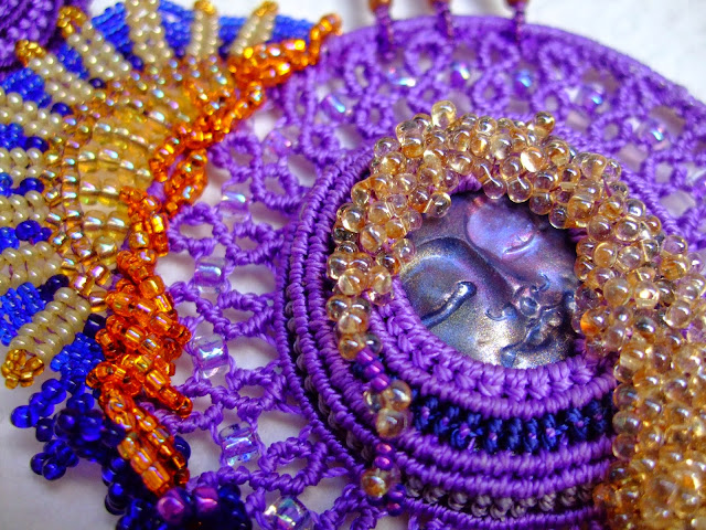 Collaboration of bead work and macrame