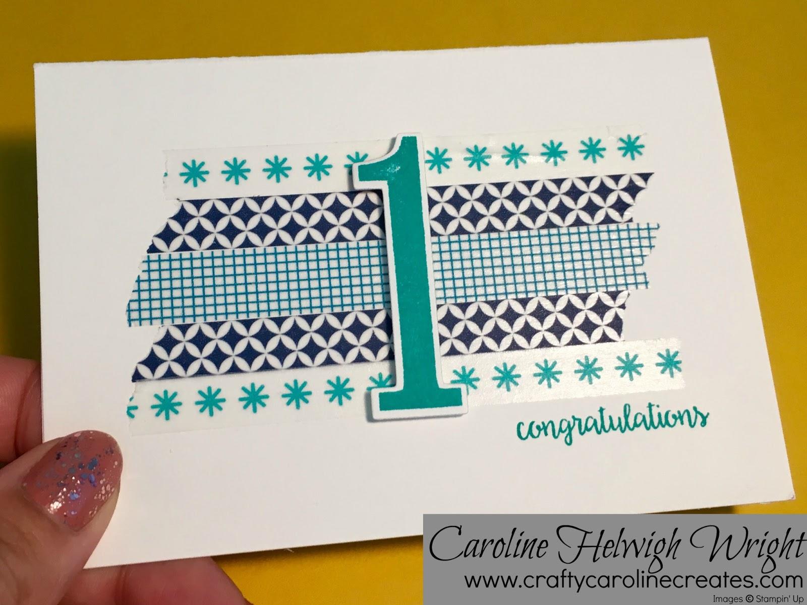 Craftycarolinecreates st anniversary congratulations washi tape