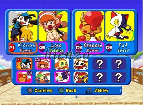 Klonoa Beach Volleyball (All Characters)
