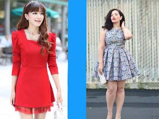 Baju mini dress wanita cantik