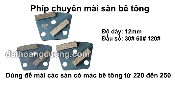 Đĩa mài sàn bê tông mác từ 220 đến 400 5. Đĩa mài sàn bê tông mác từ 220 đến 250