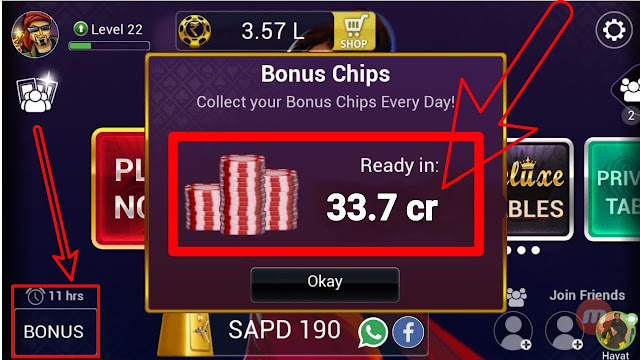 get free teen patti chips