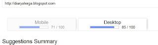 ukur page speed blog di google insight