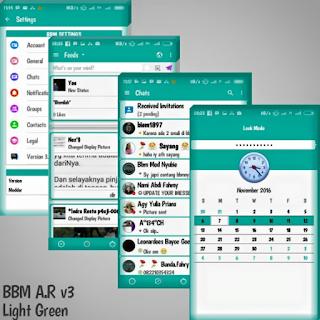 BBM Mod AR v3 Light Green Base 3.1.0.13 Apk