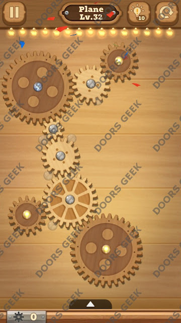 Fix it: Gear Puzzle [Plane] Level 32 Solution, Cheats, Walkthrough for Android, iPhone, iPad and iPod