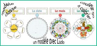 Questionner le monde, le temps, CP calendrier perpétuel à tourner, avec Ludo, modèle classe