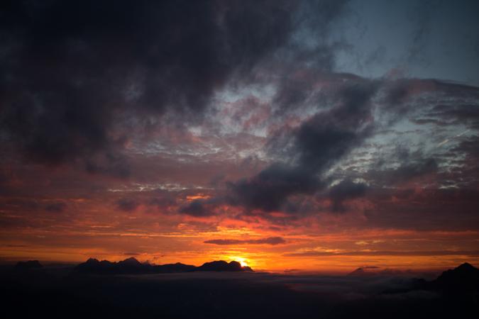 Sonnenuntergang am Stadelstein | Eisenerzer Alpen Höhenweg