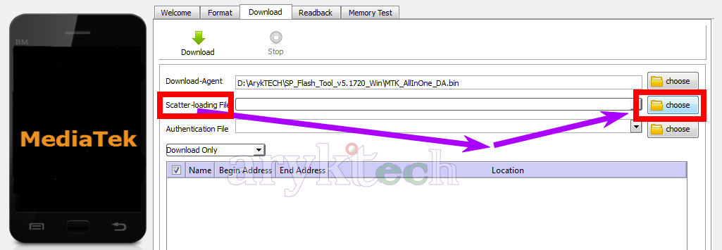 Tecno F7 Phantom A Stock Firmware Flash Guide -Step 6