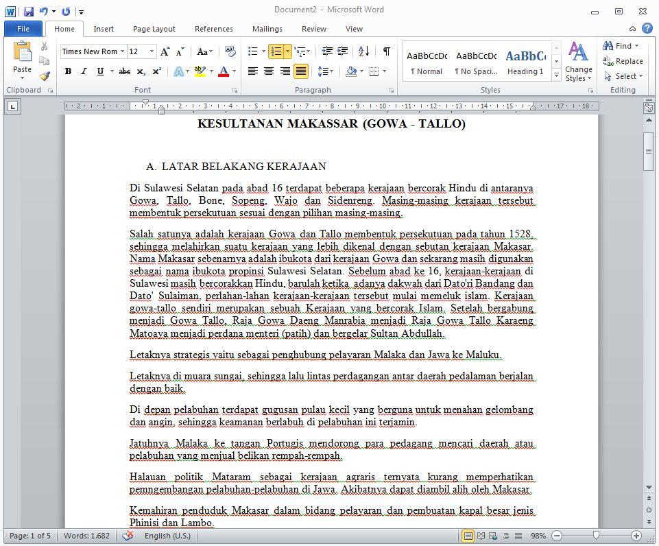 Contoh Makalah Sejarah Kerajaan Makassar Gowa Tallo
