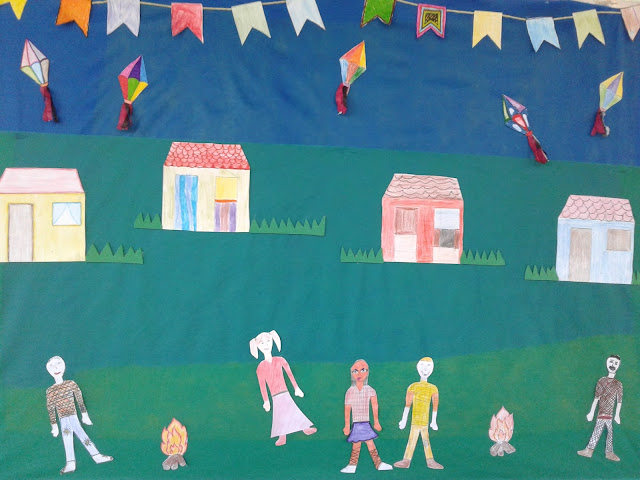 painel de festa junina para decoração escolar, Educação Infantil