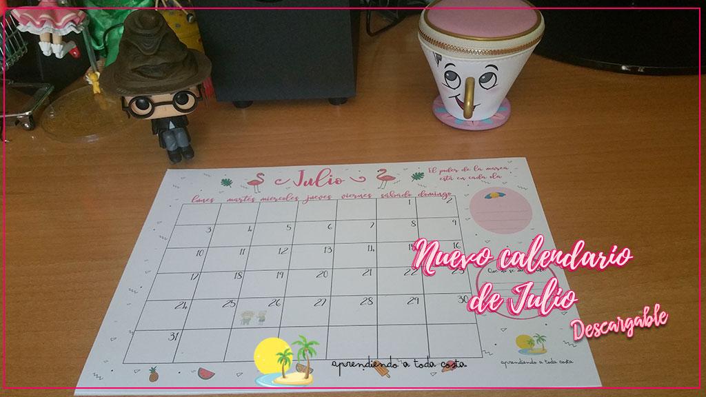 Portada - Nuevo calendario de Julio
