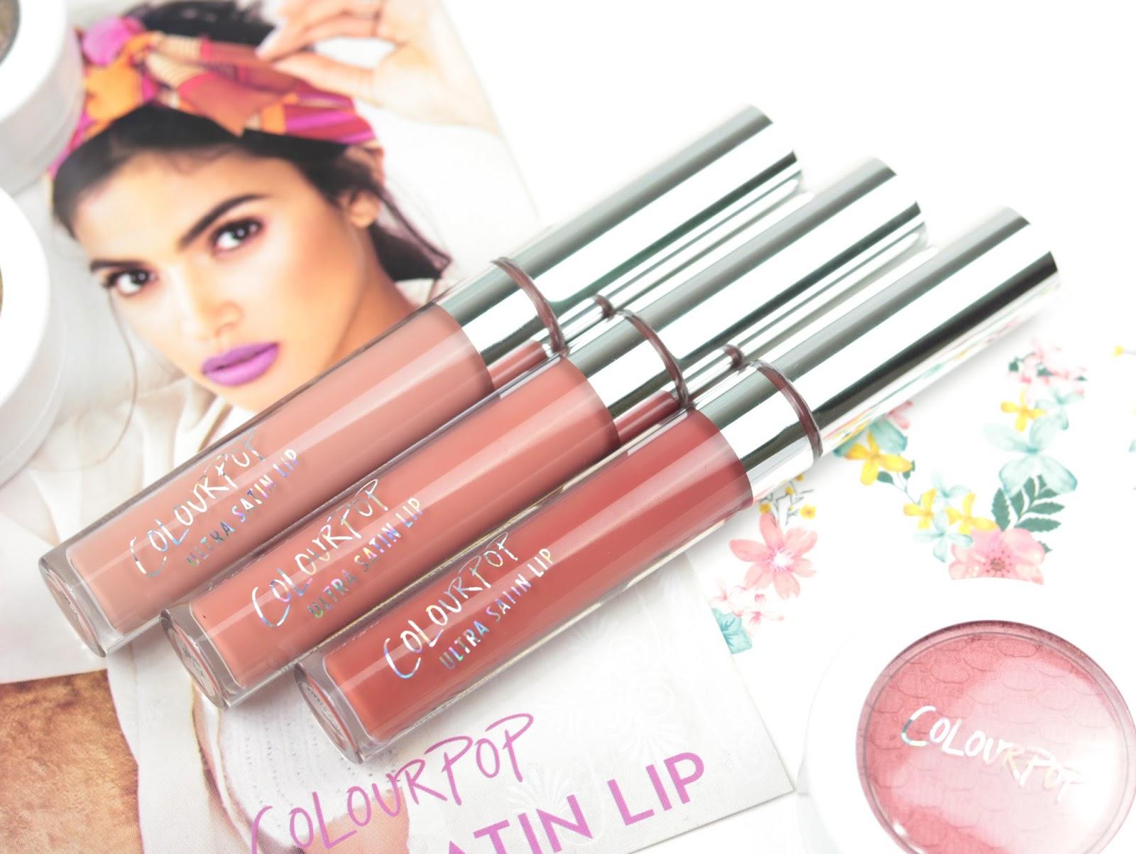 Les Ultra Satin Lip de Colour Pop, les rouges à lèvres liquides 100% confort. Avis Swatch Littlestitious, Echo Park et Krick'nFrack