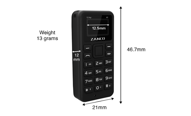 The World's Smallest Phone Zanco tiny t1