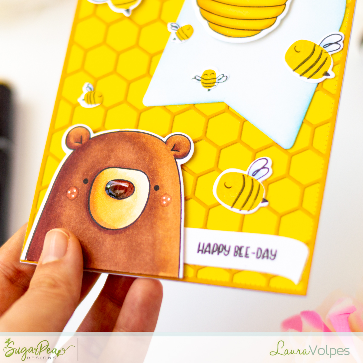 Happy Bee-Day {Video}   SugarPea Designs Clear Stamps