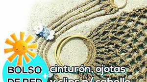 Bolso, cinturón, ojotas y clips para cabello al Crochet /  Paso a paso