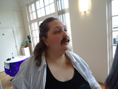 Pippa with a moustache