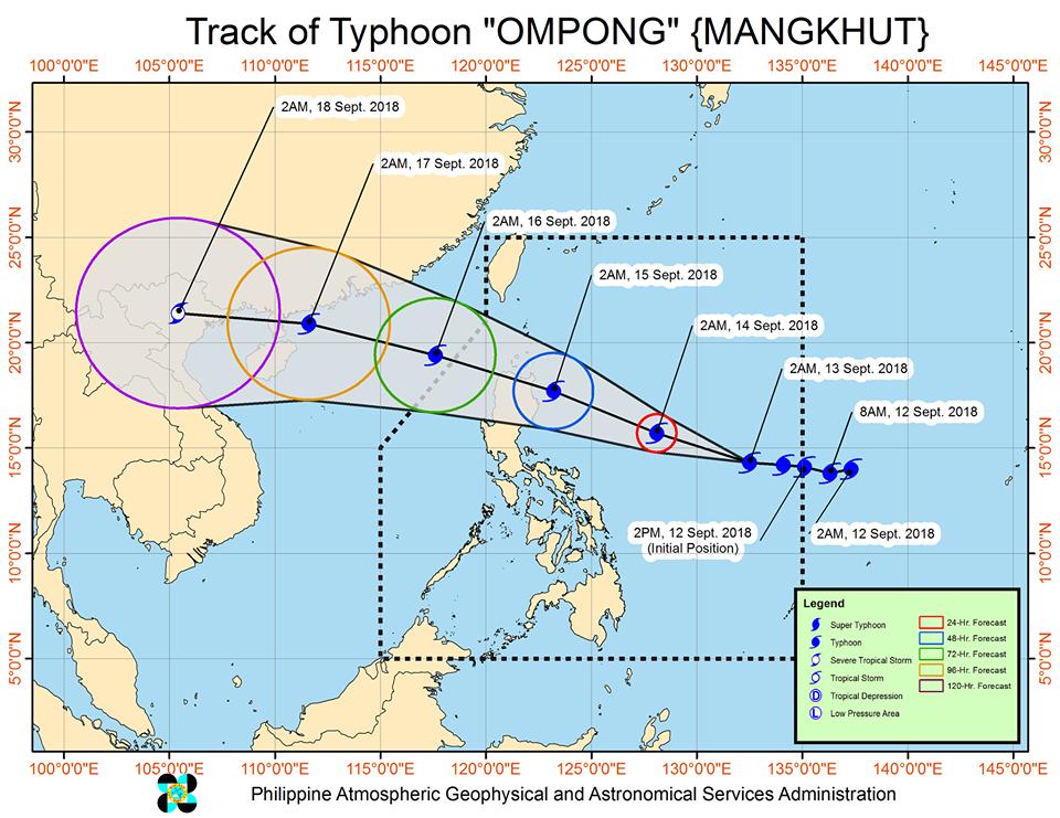 track Typhoon Ompong