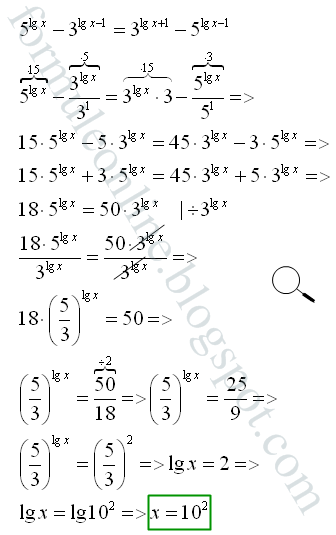 logarithmic exponential equations examples