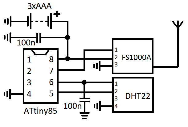 wireless pressure sensor circuit diagram