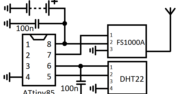 Microcontroller home projects: Wireless DHT22 Sensor 2.0