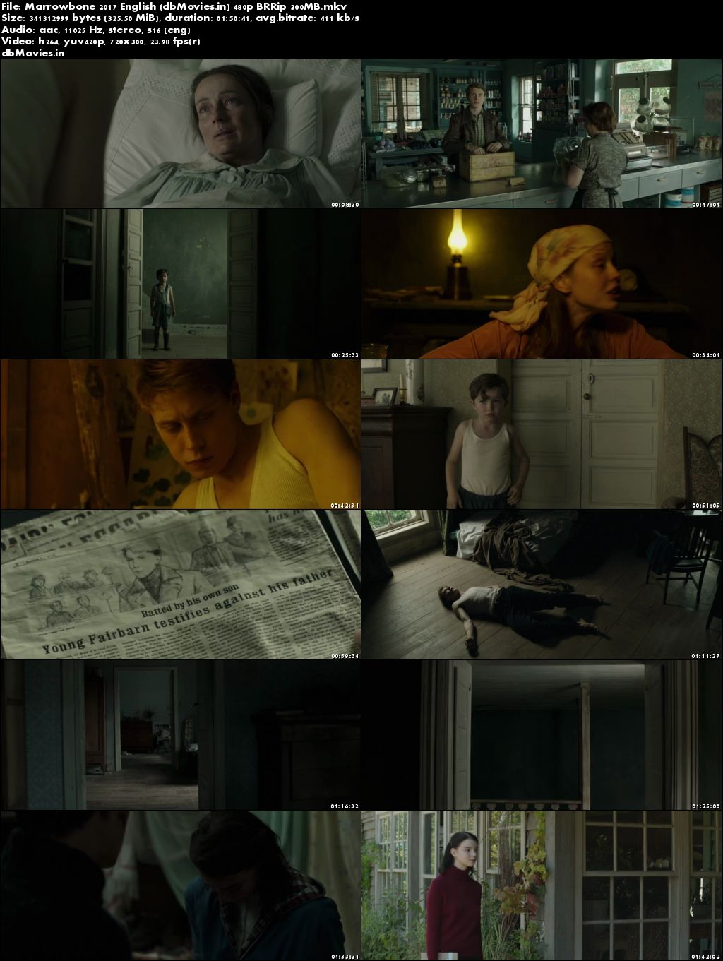 Poster The Secret of Marrowbone (2017) 300MB Movie Download