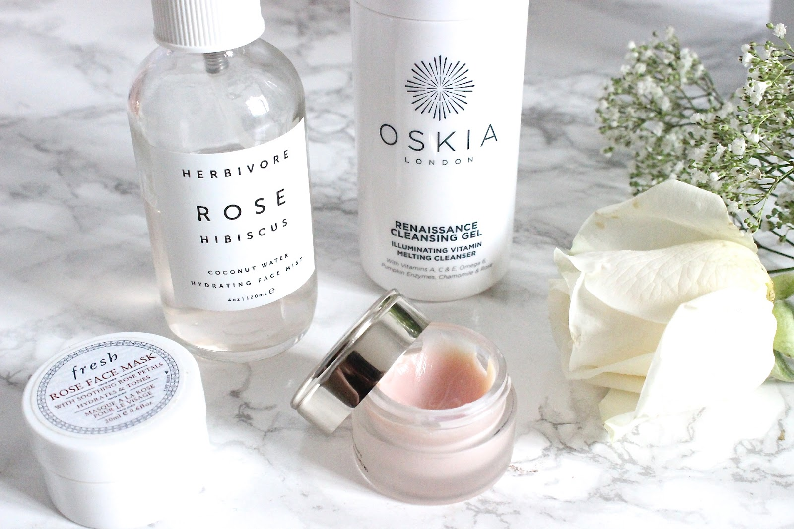 Rose Scented Beauty Products - Oskia, Herbivore, Fresh, By Terry