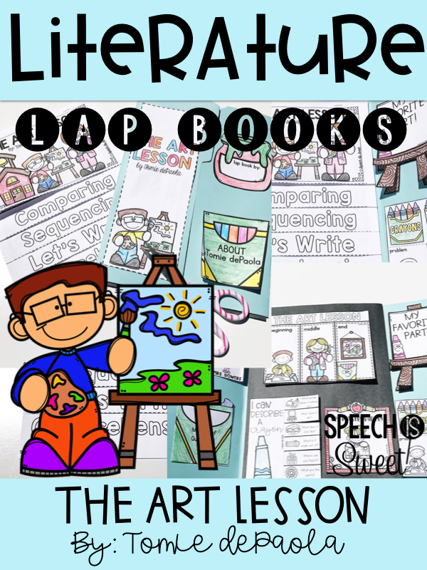 Book Cover Art Lesson ~ Speech is sweet literature lap books the art lesson