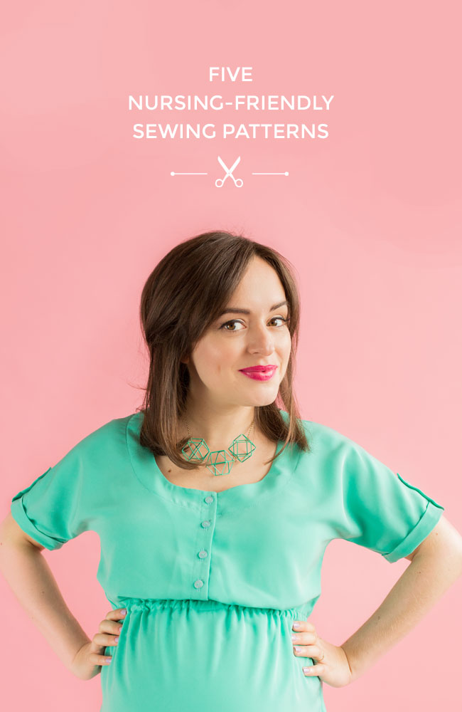 Five Nursing-Friendly Sewing Patterns - lovely options for breastfeeding mamas!