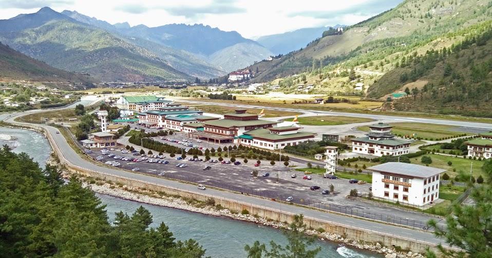 Stock Pictures Picturesque Paro Airport In Bhutan