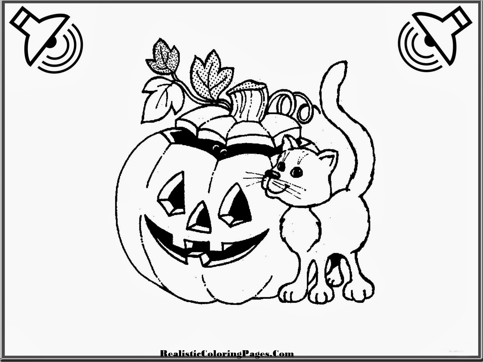 Realistic Halloween Coloring Pages