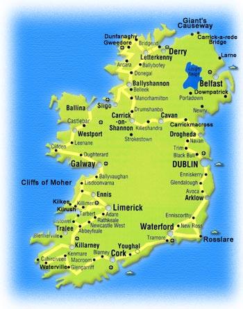 Cartina D Irlanda.Per Chi Ama L Irlanda Cartine Dell Irlanda Per Conoscerla Meglio