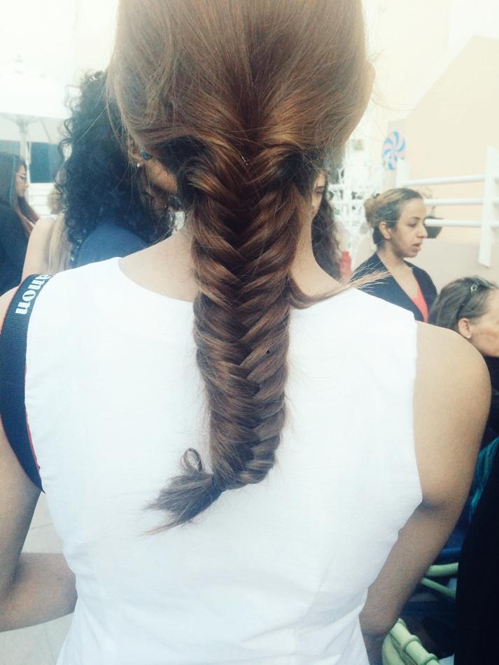 Duabi Fish tail braid hair