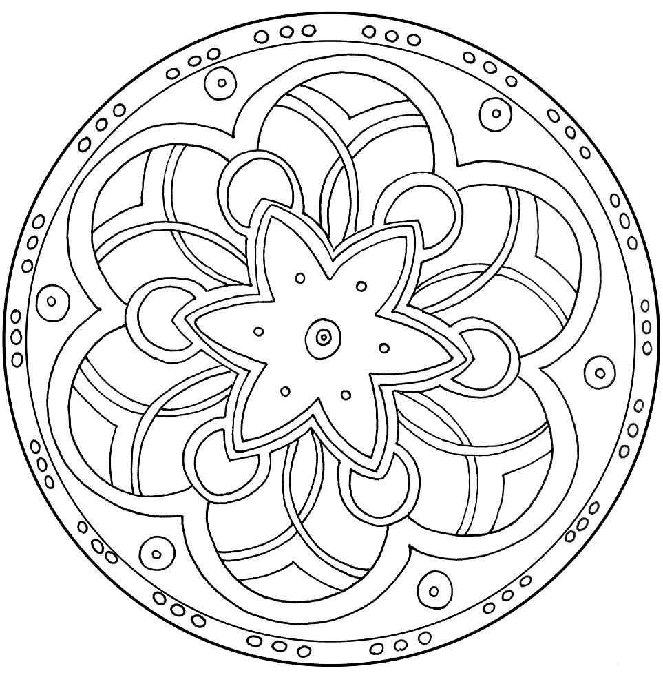 Mandala coloring pages ~ Mandalas Para Pintar: enero 2012