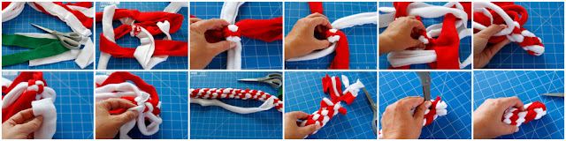 DIY Christmas candy cane dog tug toy, step-by-step how to make