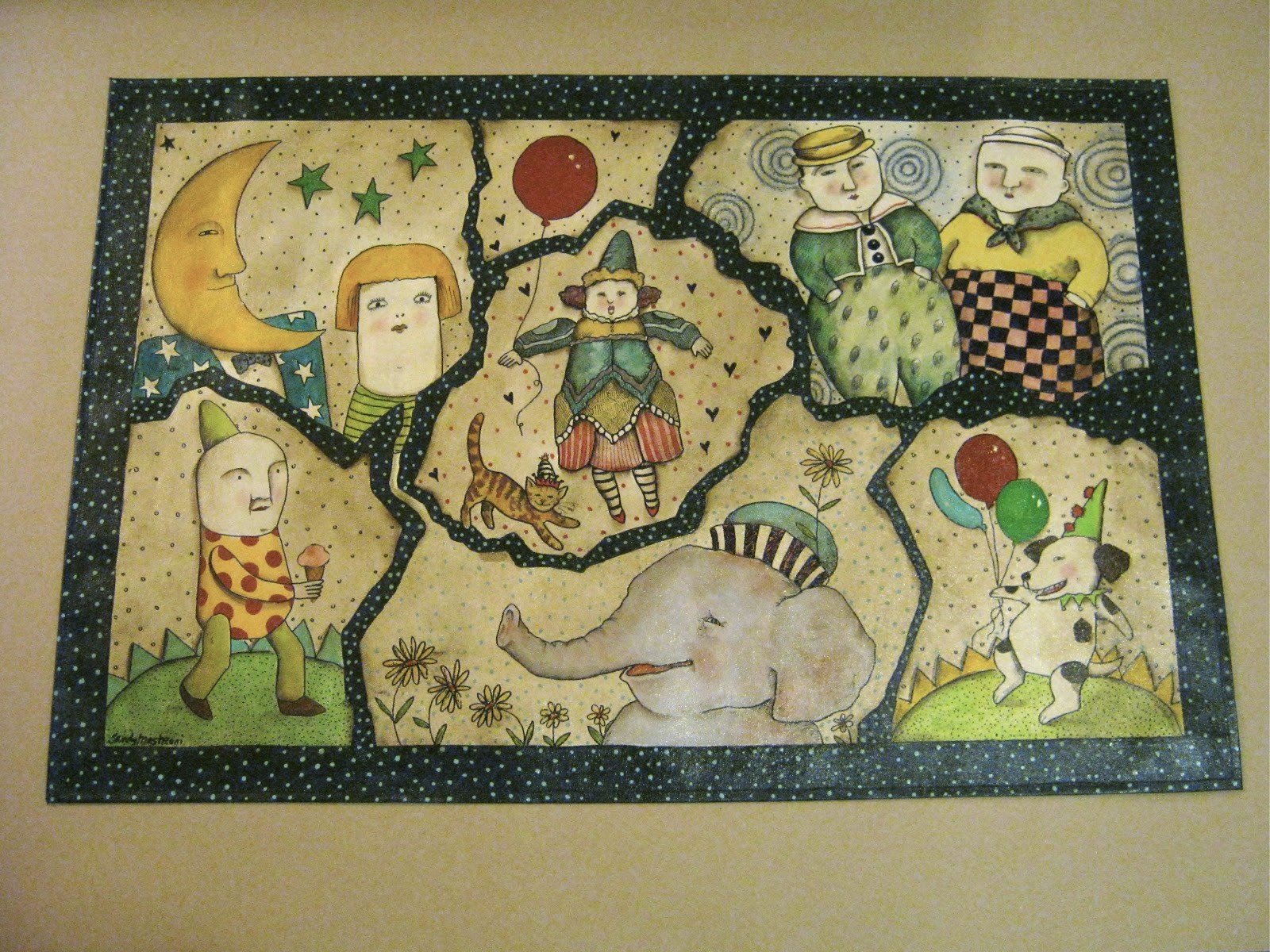 Sandy Mastroni Hand Painted Rugs And Place Mats