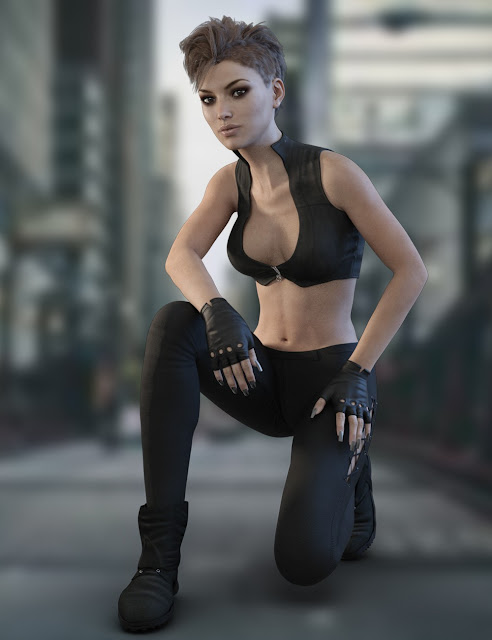 X-Fashion Reckless Outfit for Genesis 3 Female