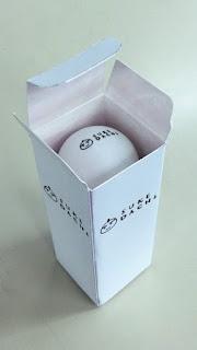 ピンポン玉パッケージの試作品