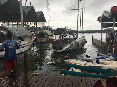 Preparing to haul out at Ram Marina Guatemala