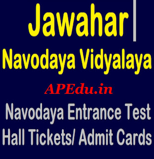 Navodaya entrance test 2019 Hall tickets download,JNVST ADMIT CARDS DOWNLAOD