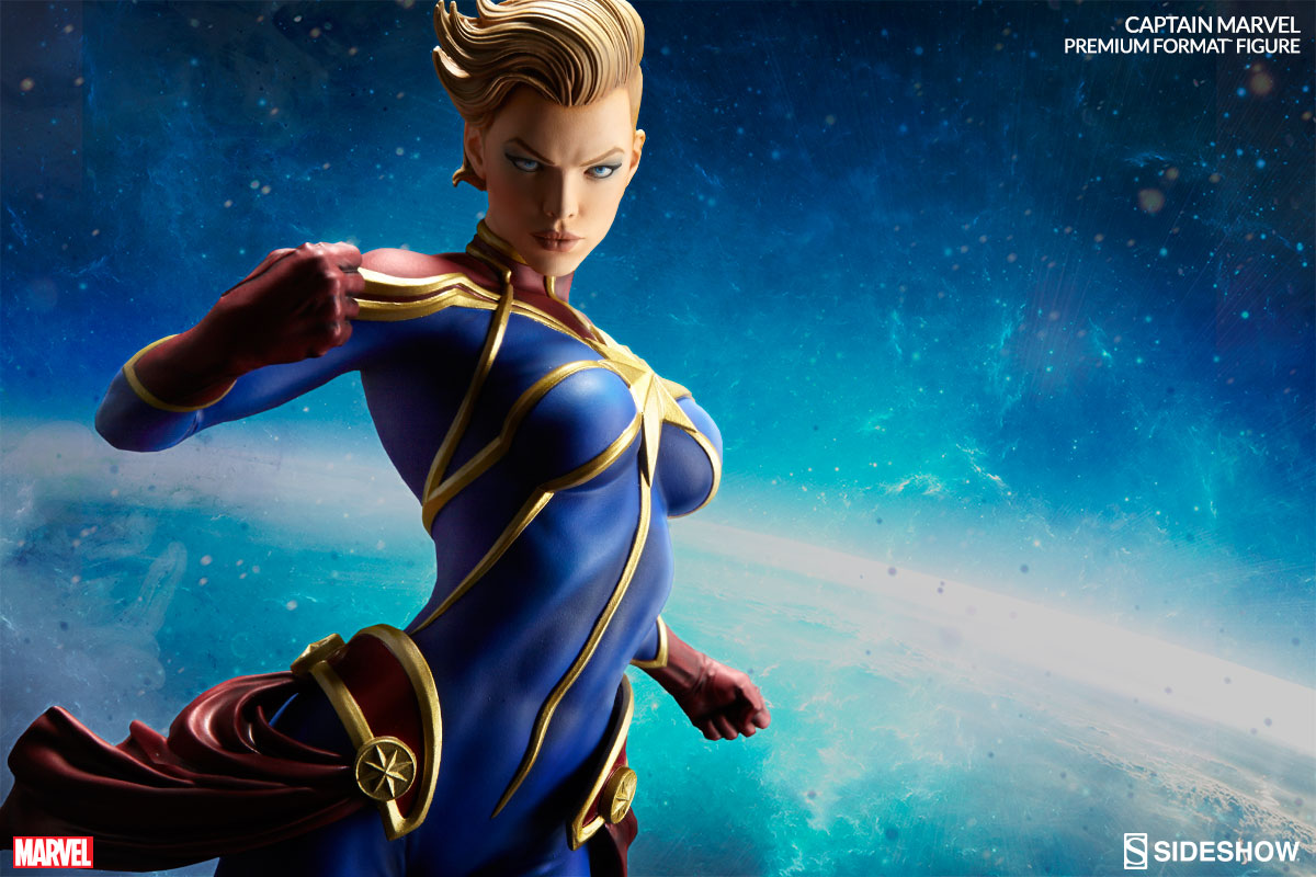 The Huh Captain Marvel This Sideshow Collectibles Statue Of Carol Danvers Is Flerkin Amazing