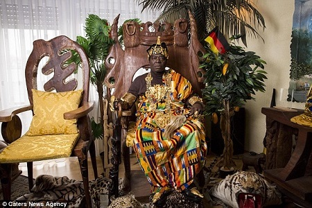 Meet the Ghanaian King Who Works Full Time as a Mechanic in Germany and Rules His People via Skype (Photos)