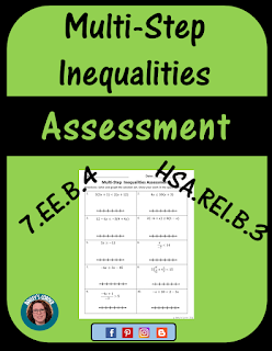 multi step inequalities assessment free